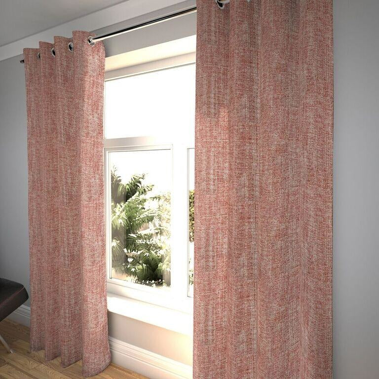 "McAlister Textiles Rhumba Burnt Orange Curtains Tailored Curtains 116cm(w) x 182cm(d) (46"" x 72"")"