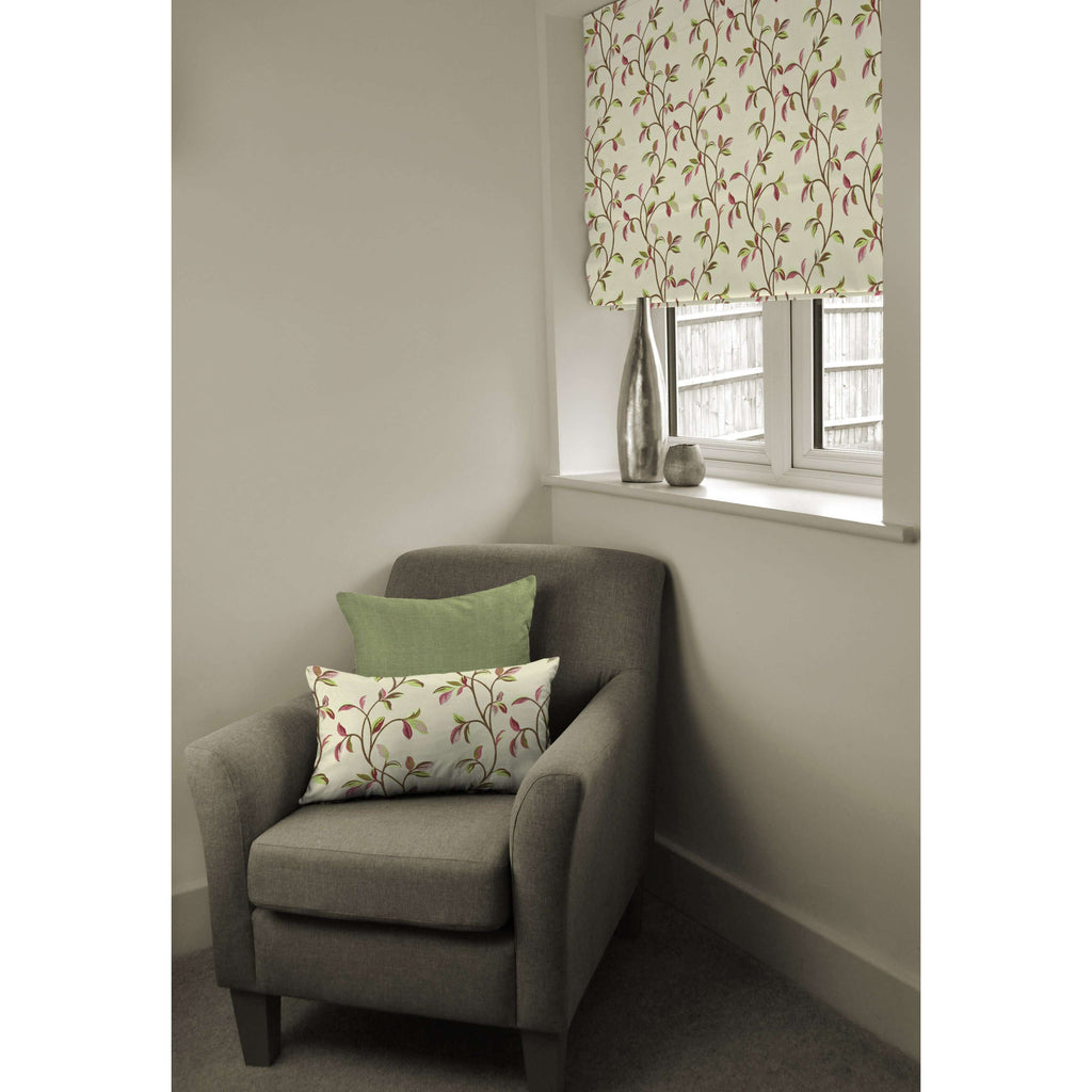 McAlister Textiles Annabel Floral Cherry Red Roman Blind Roman Blinds