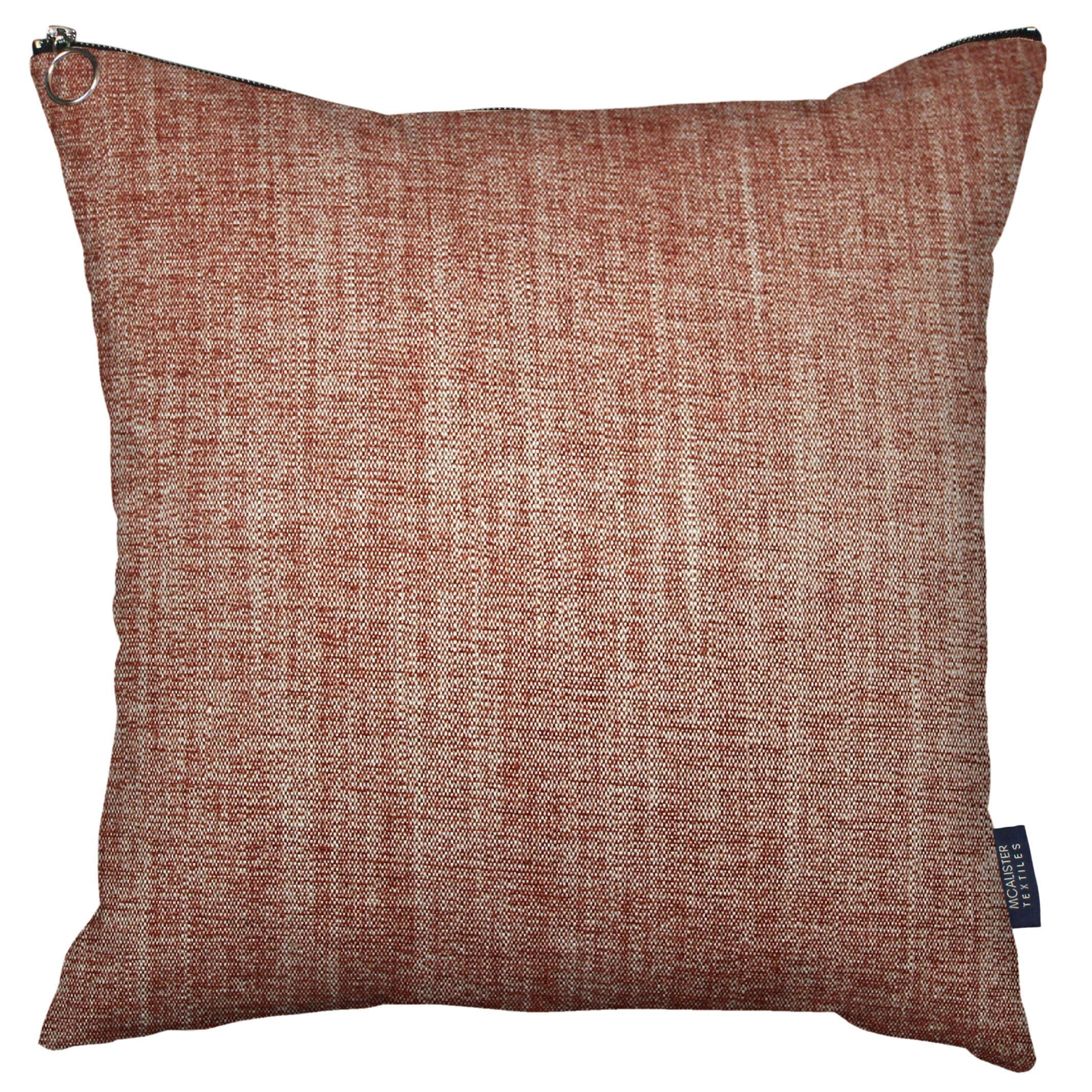 McAlister Textiles Rhumba Zipper Edge Burnt Orange Linen Cushion Cushions and Covers Cover Only 43cm x 43cm