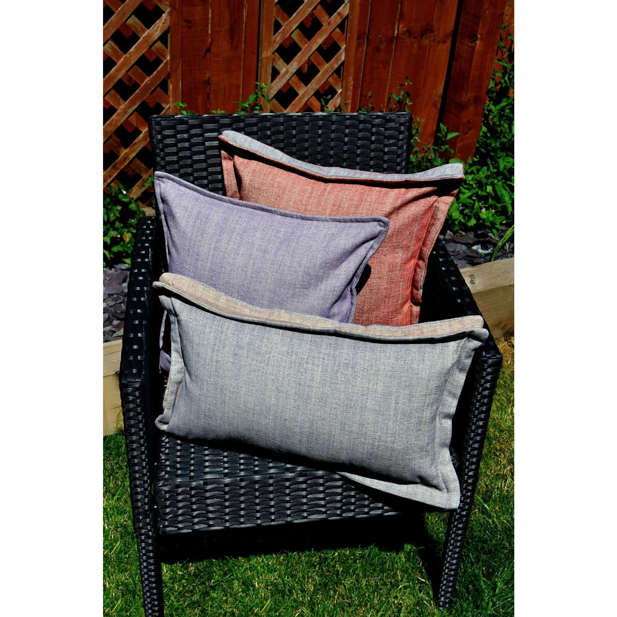 McAlister Textiles Rhumba Accent Burnt Orange + Grey Cushion Cushions and Covers