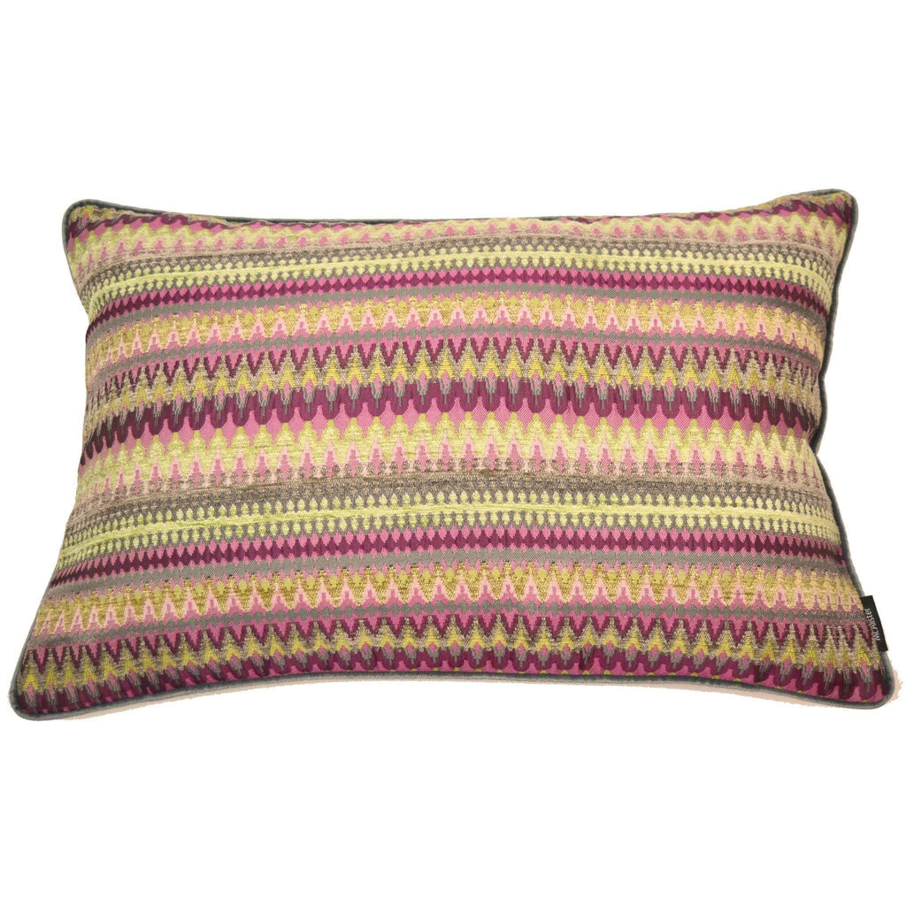 McAlister Textiles Curitiba Aztec Pink + Grey Aztec Cushion Cushions and Covers Cover Only 50cm x 30cm
