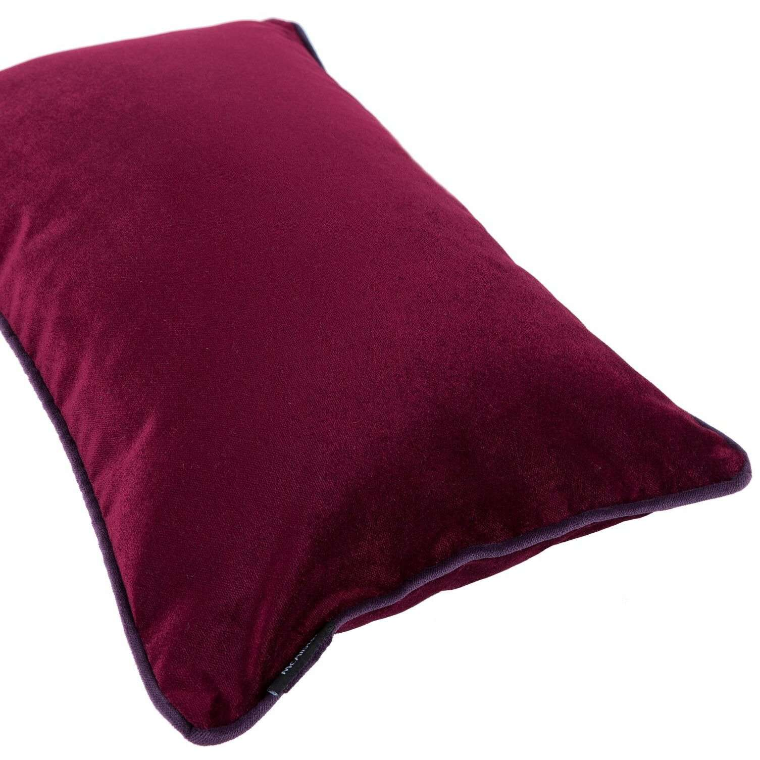 McAlister Textiles Matt Wine Red Velvet Pillow Pillow