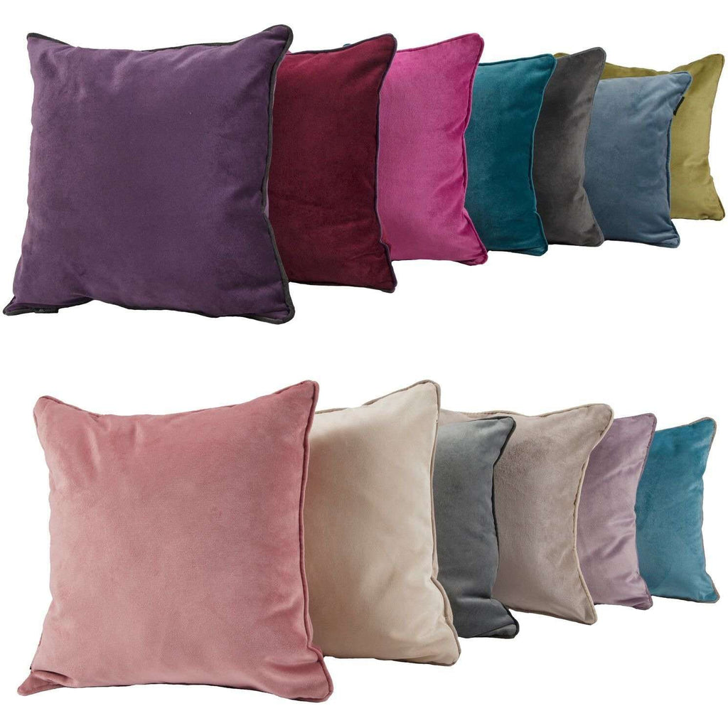 McAlister Textiles Matt Champagne Gold Velvet Cushion Cushions and Covers