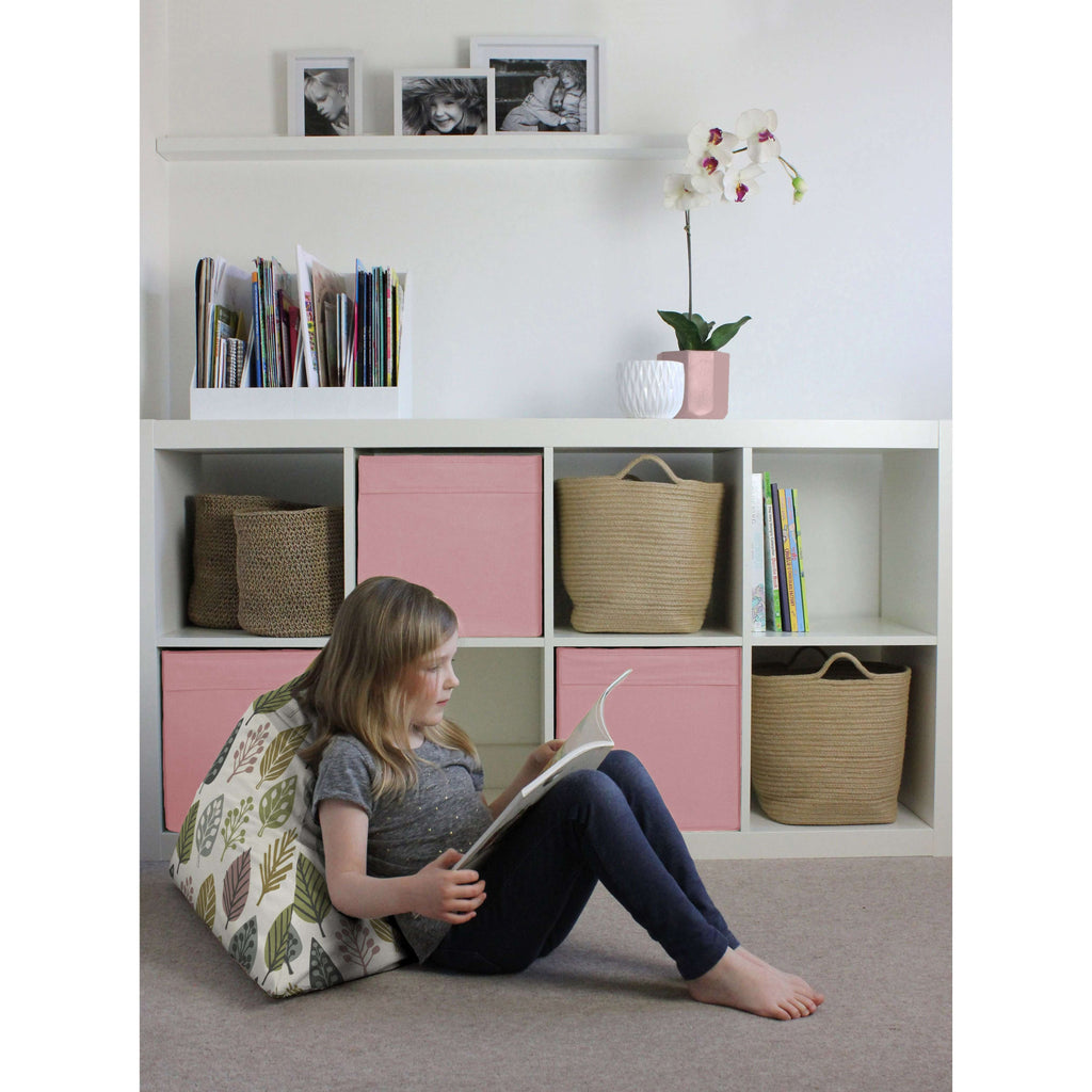 McAlister Textiles Magda Pink + Grey Bean Bag Chair Bean Bag