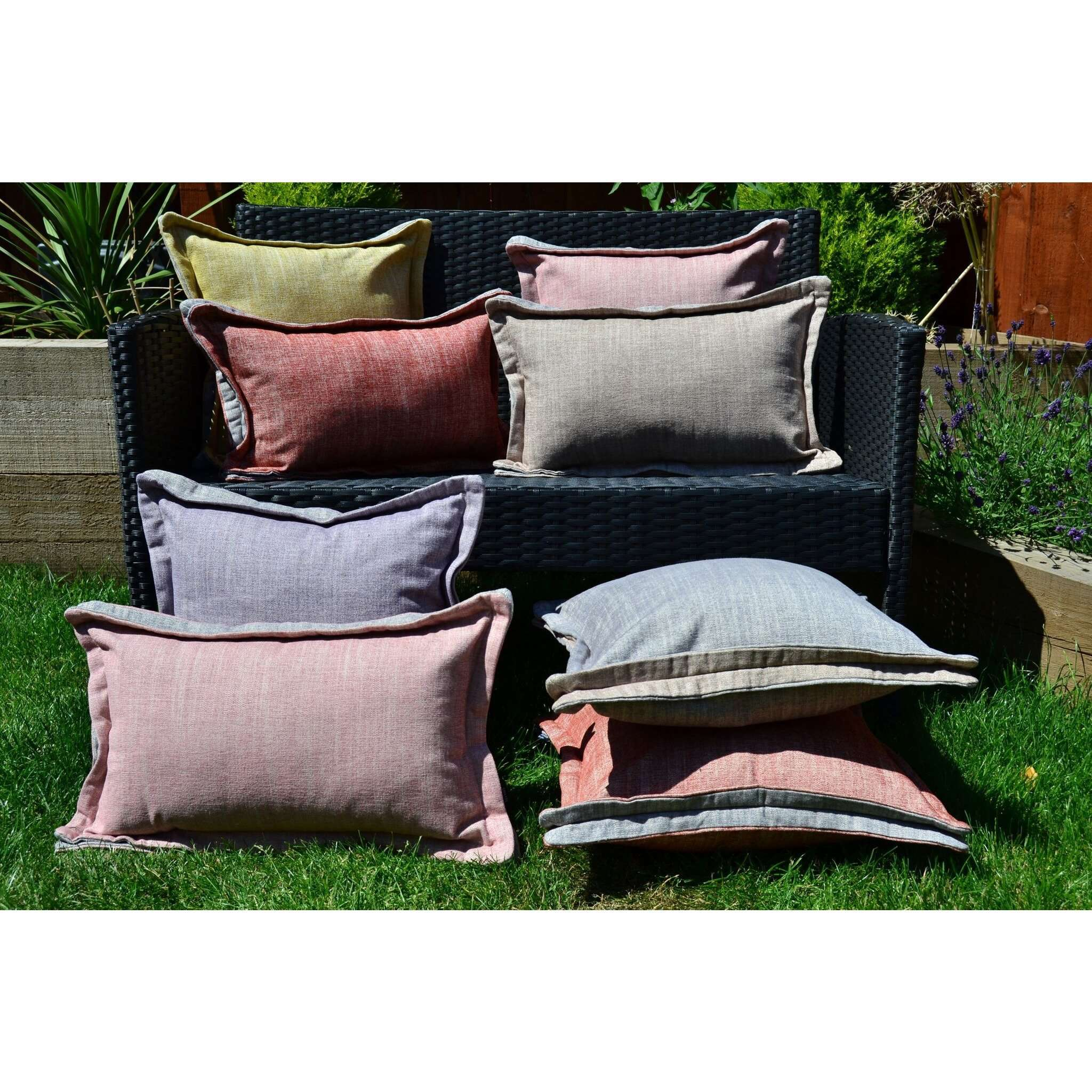 McAlister Textiles Rhumba Accent Taupe Beige + Grey Cushion Cushions and Covers