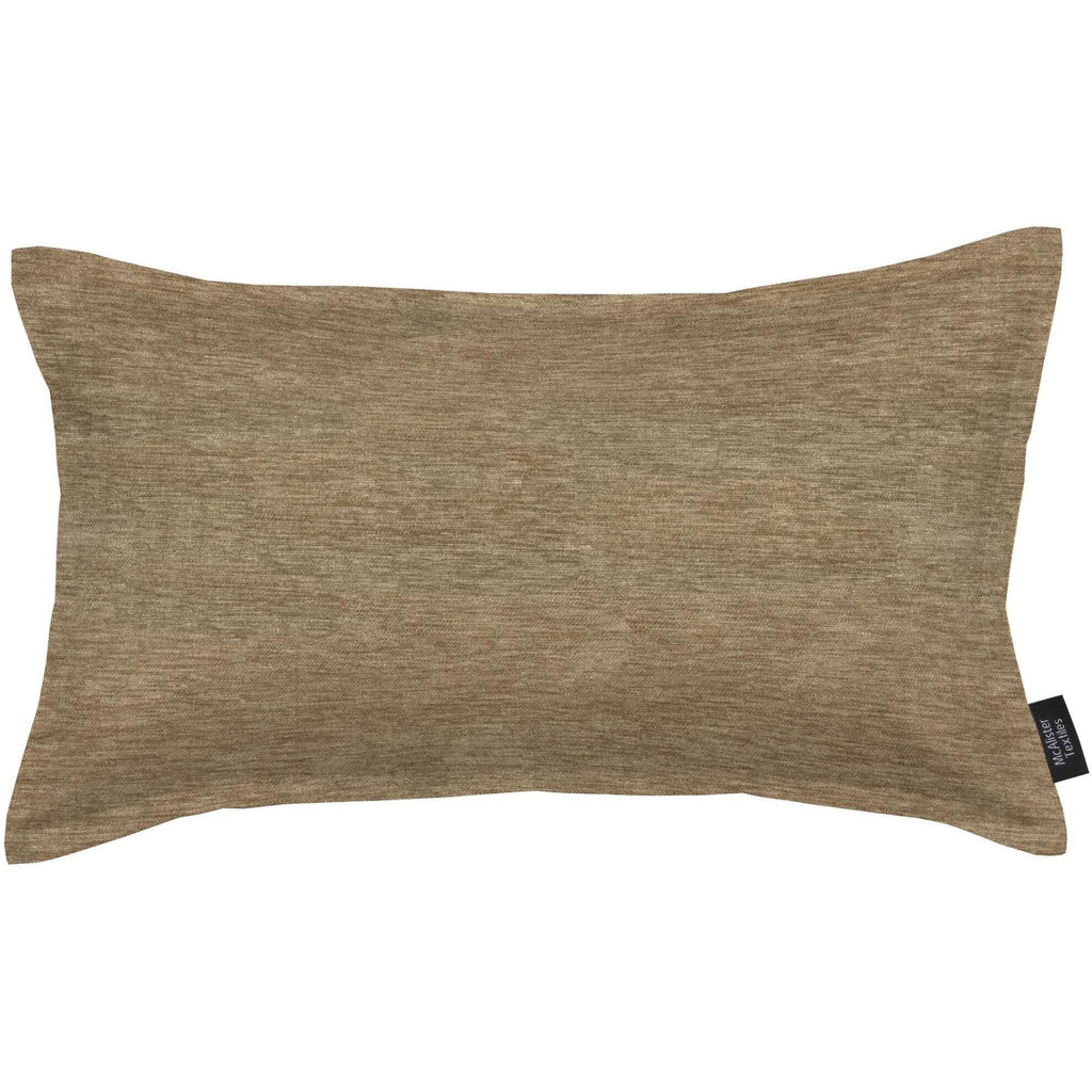 McAlister Textiles Plain Chenille Taupe Beige Cushion Cushions and Covers Polyester Filler 50cm x 30cm