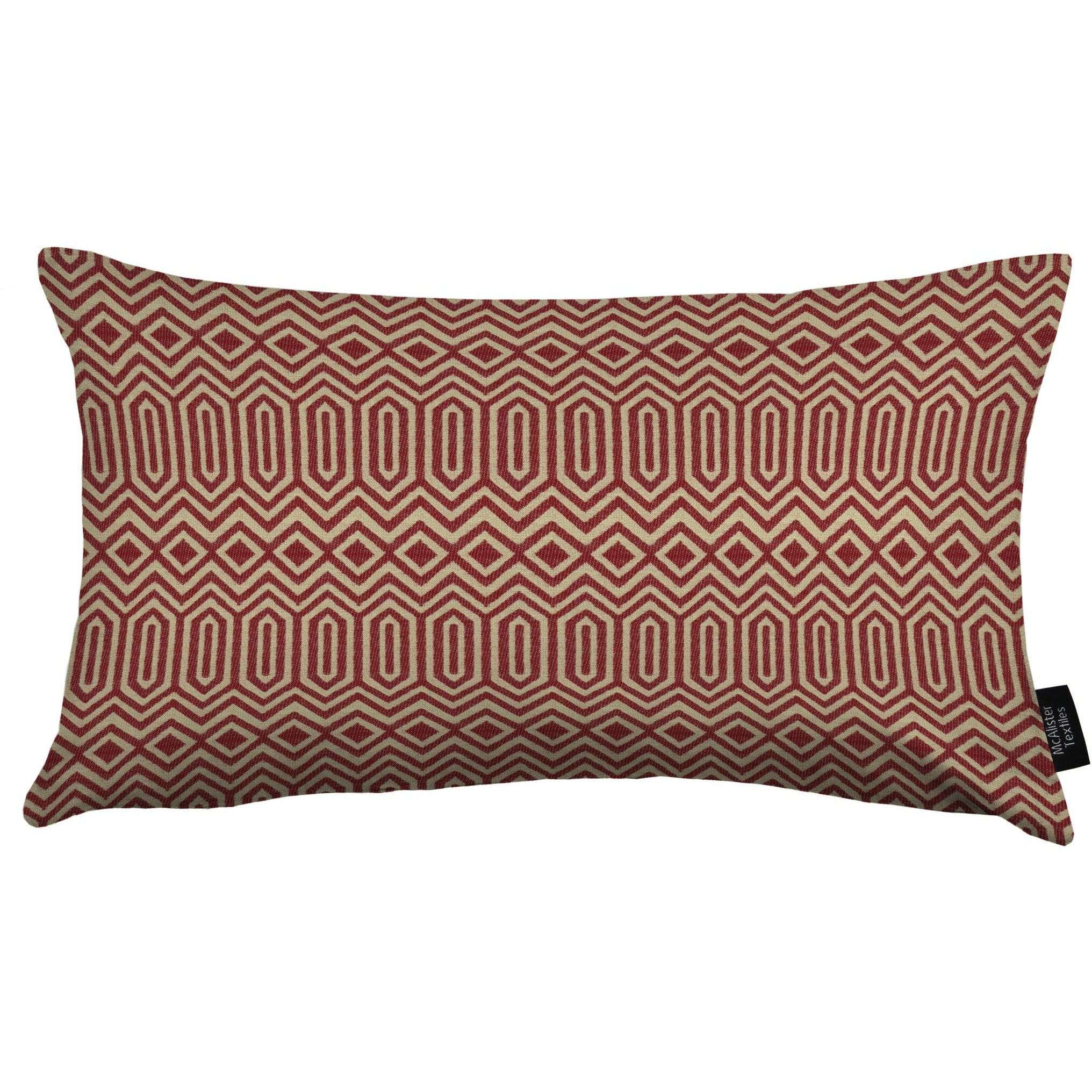 McAlister Textiles Colorado Geometric Red Pillow Pillow Cover Only 50cm x 30cm