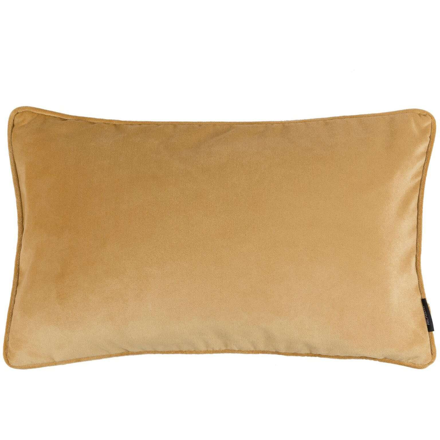 McAlister Textiles Matt Ochre Yellow Velvet Cushion Cushions and Covers Cover Only 50cm x 30cm