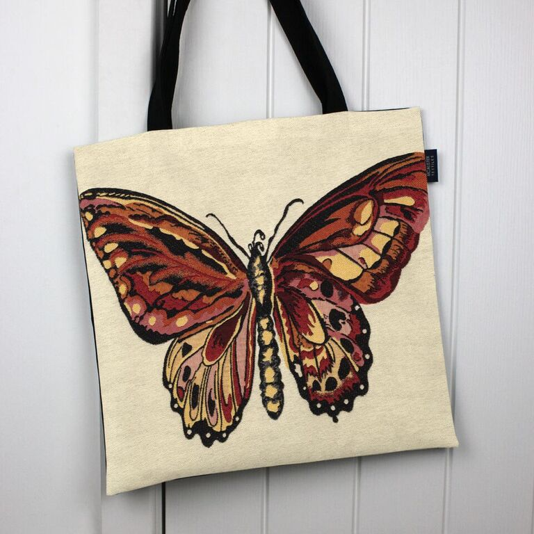 McAlister Textiles Butterfly Tapestry Tote Bag Tote Bag