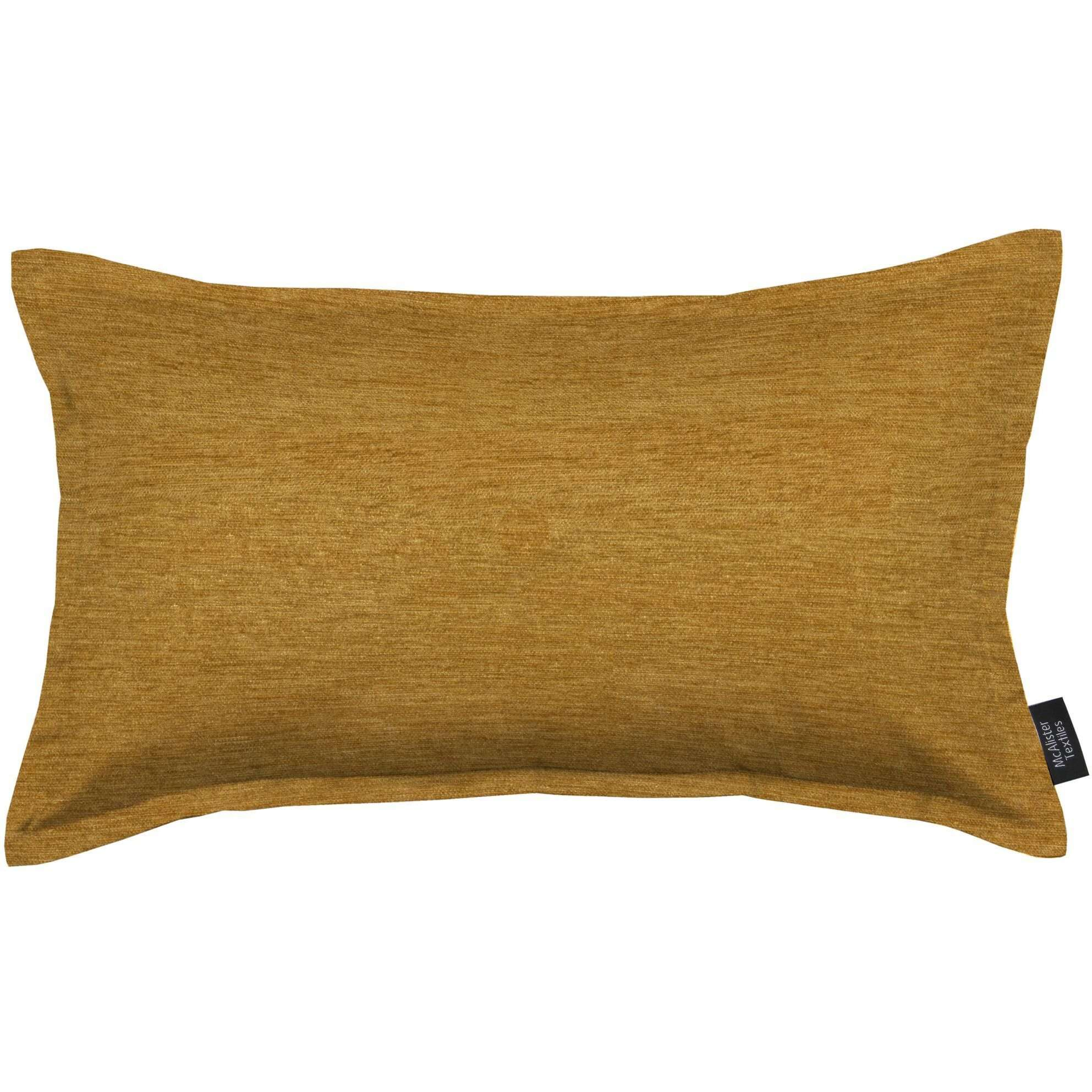 McAlister Textiles Plain Chenille Mustard Yellow Pillow Pillow Cover Only 50cm x 30cm