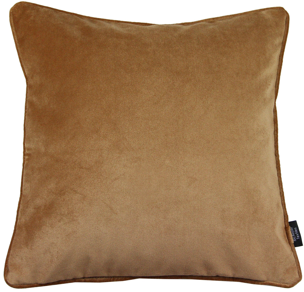 McAlister Textiles Matt Caramel Gold Velvet 43cm x 43cm Cushion Sets Cushions and Covers