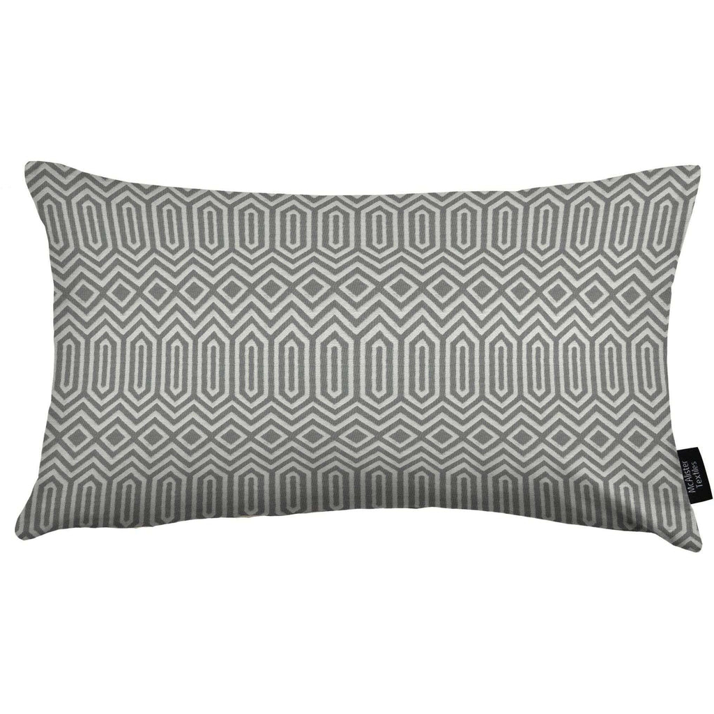 McAlister Textiles Colorado Geometric Charcoal Grey Pillow Pillow Cover Only 50cm x 30cm