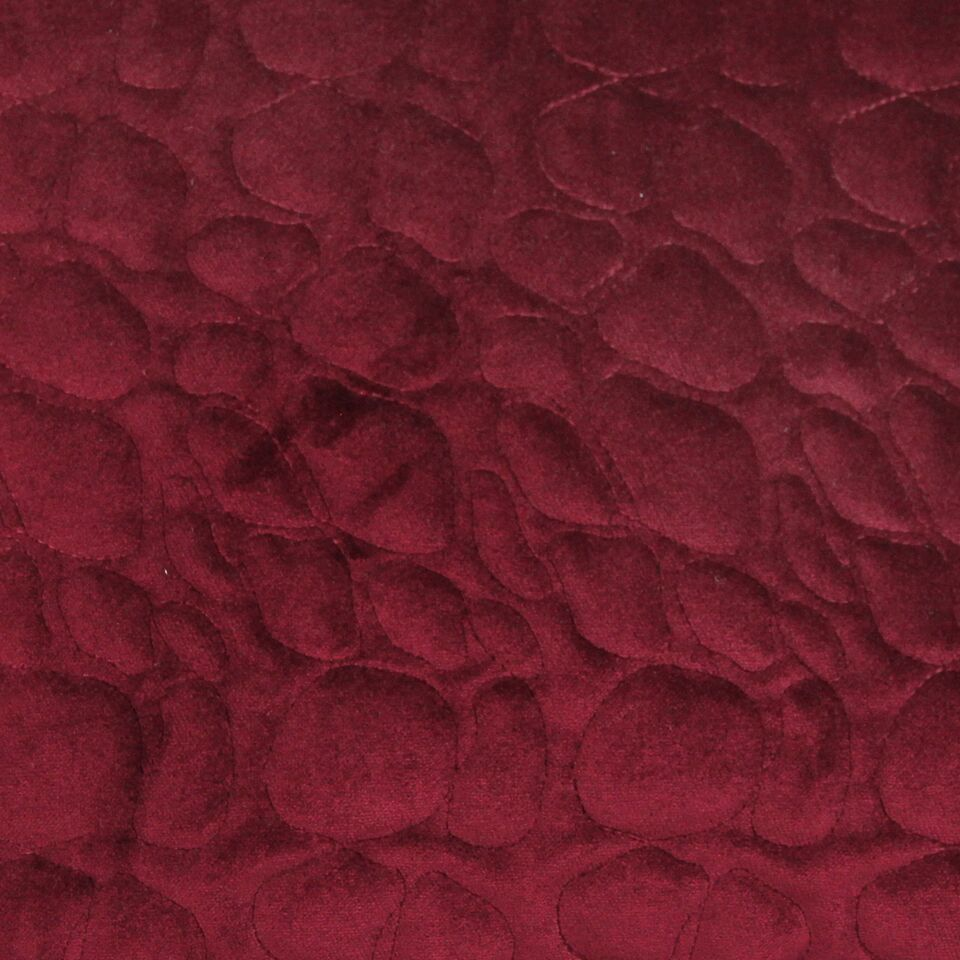 McAlister Textiles Pebble Pattern Red Velvet Makeup Bag Clutch Bag