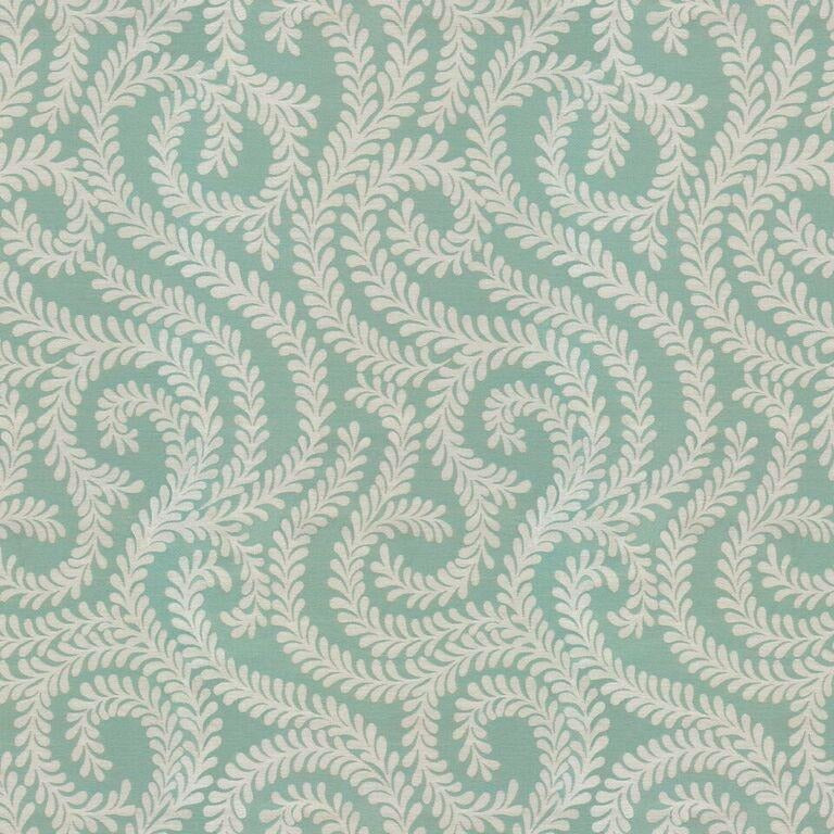 McAlister Textiles Little Leaf Duck Egg Blue Curtains Tailored Curtains