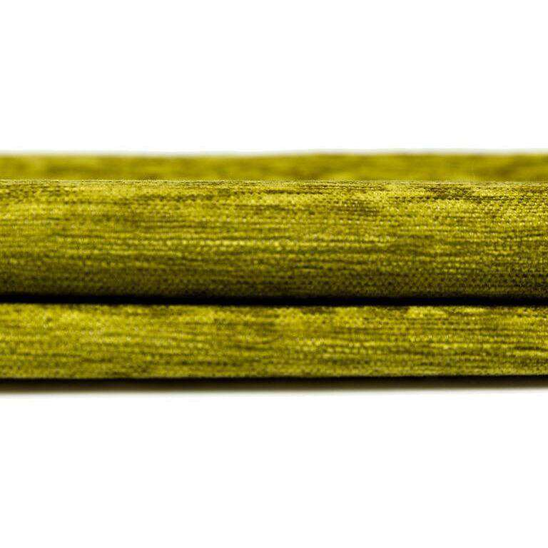 McAlister Textiles Plain Chenille Lime Green Curtains Tailored Curtains