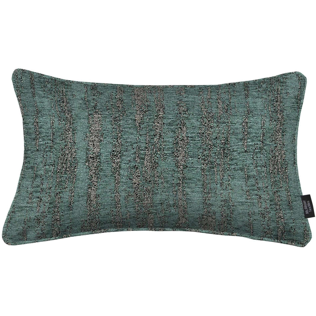 McAlister Textiles Textured Chenille Teal Pillow Pillow Cover Only 50cm x 30cm