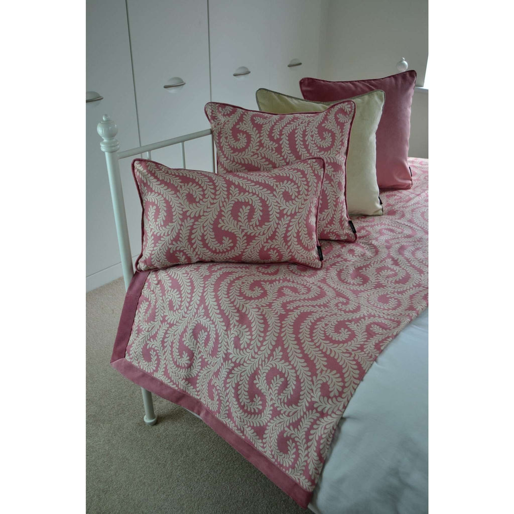 McAlister Textiles Little Leaf Blush Pink Cushion Cushions and Covers