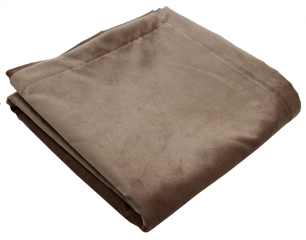 McAlister Textiles Matt Mocha Brown Velvet Bedding Set Bedding Set