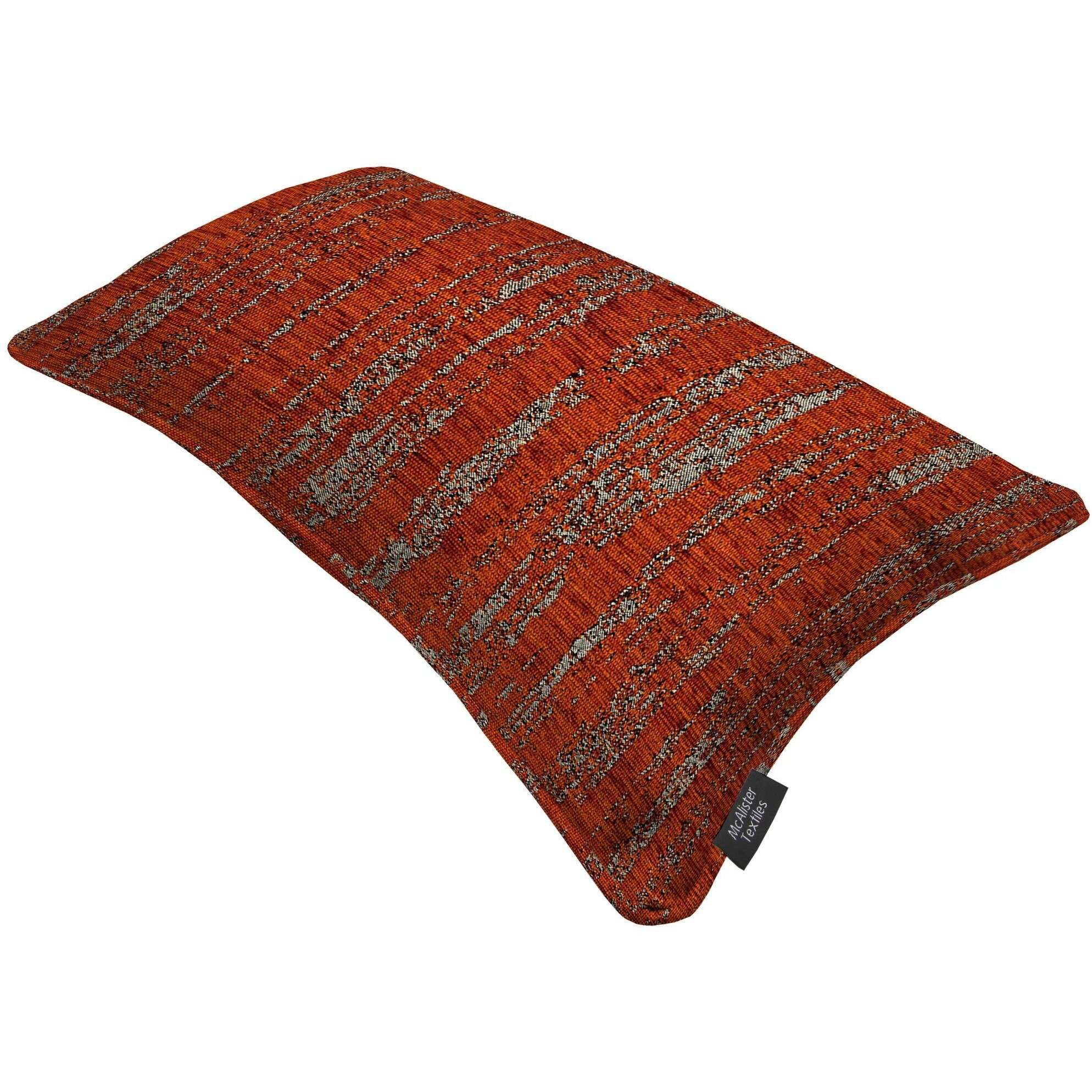 McAlister Textiles Textured Chenille Burnt Orange Cushion Cushions and Covers