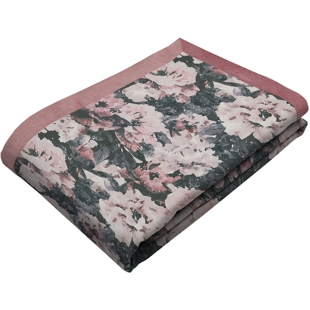 McAlister Textiles Camille Floral Velvet Throw Blanket Throws and Runners Regular (130cm x 200cm)