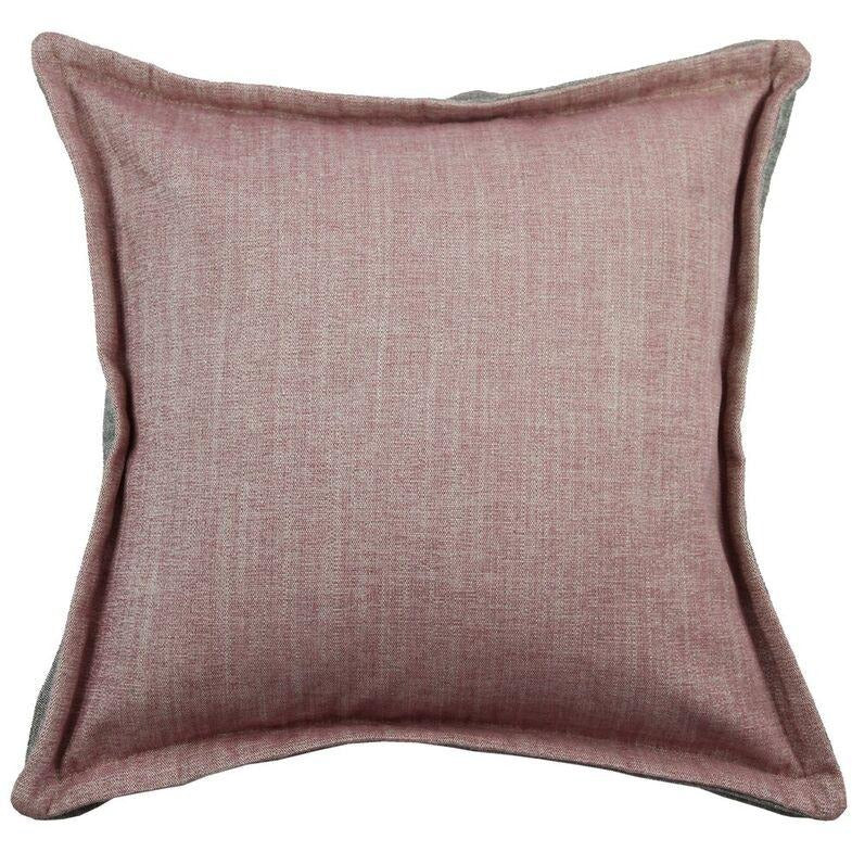 McAlister Textiles Rhumba Accent Blush Pink + Grey Cushion Cushions and Covers Cover Only 43cm x 43cm