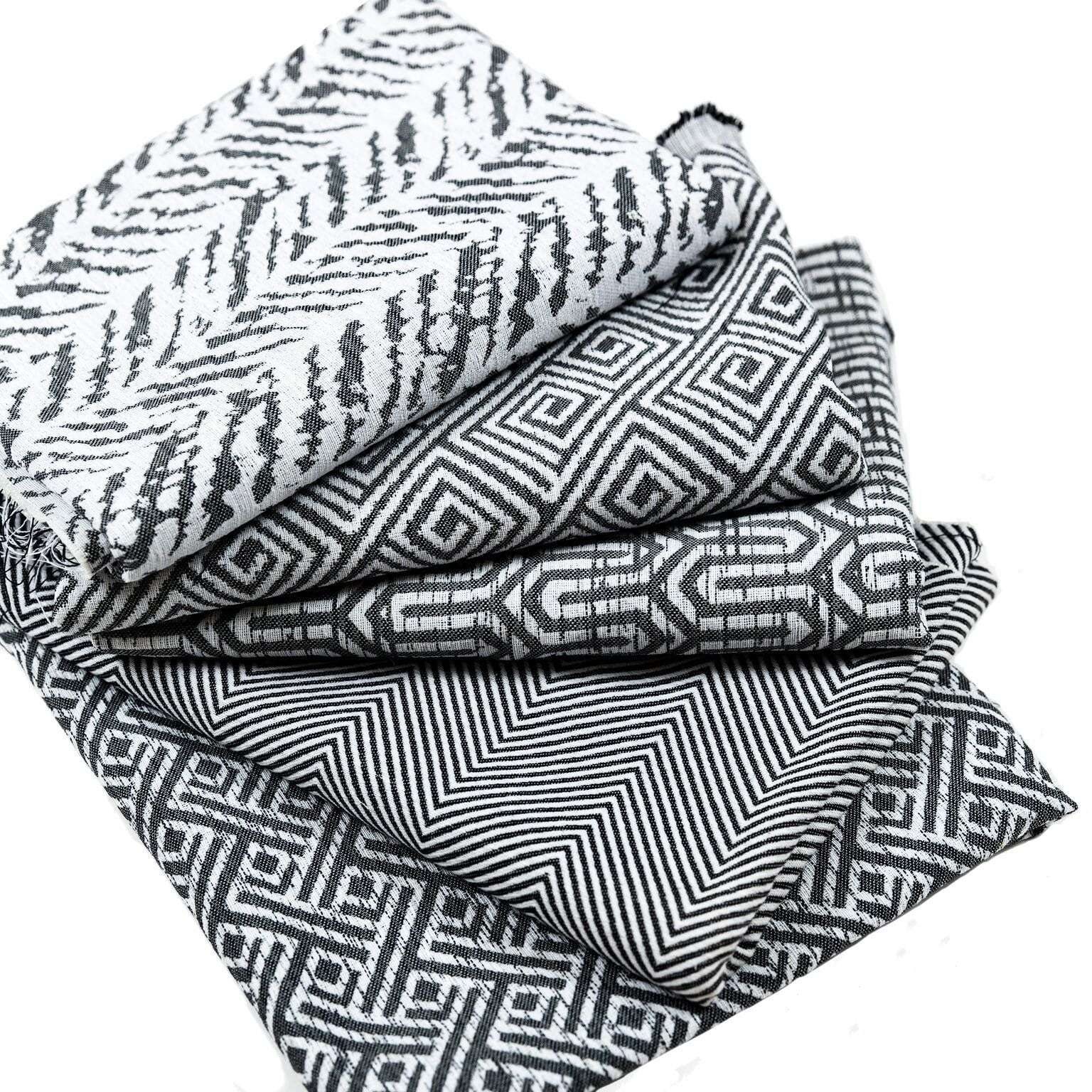 McAlister Textiles Herringbone Twill Black + White Cushion Cushions and Covers