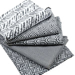 Load image into Gallery viewer, McAlister Textiles Herringbone Twill Black + White Cushion Cushions and Covers