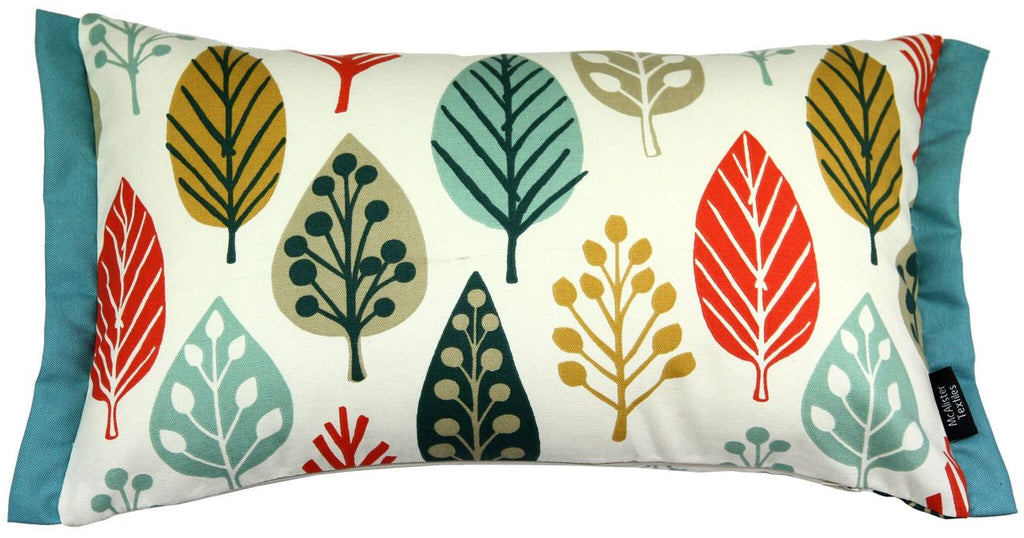 McAlister Textiles Magda Cotton Print Burnt Orange Pillow Pillow Cover Only 50cm x 30cm