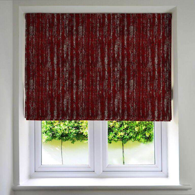 McAlister Textiles Textured Chenille Wine Red Roman Blinds Roman Blinds Standard Lining 130cm x 200cm