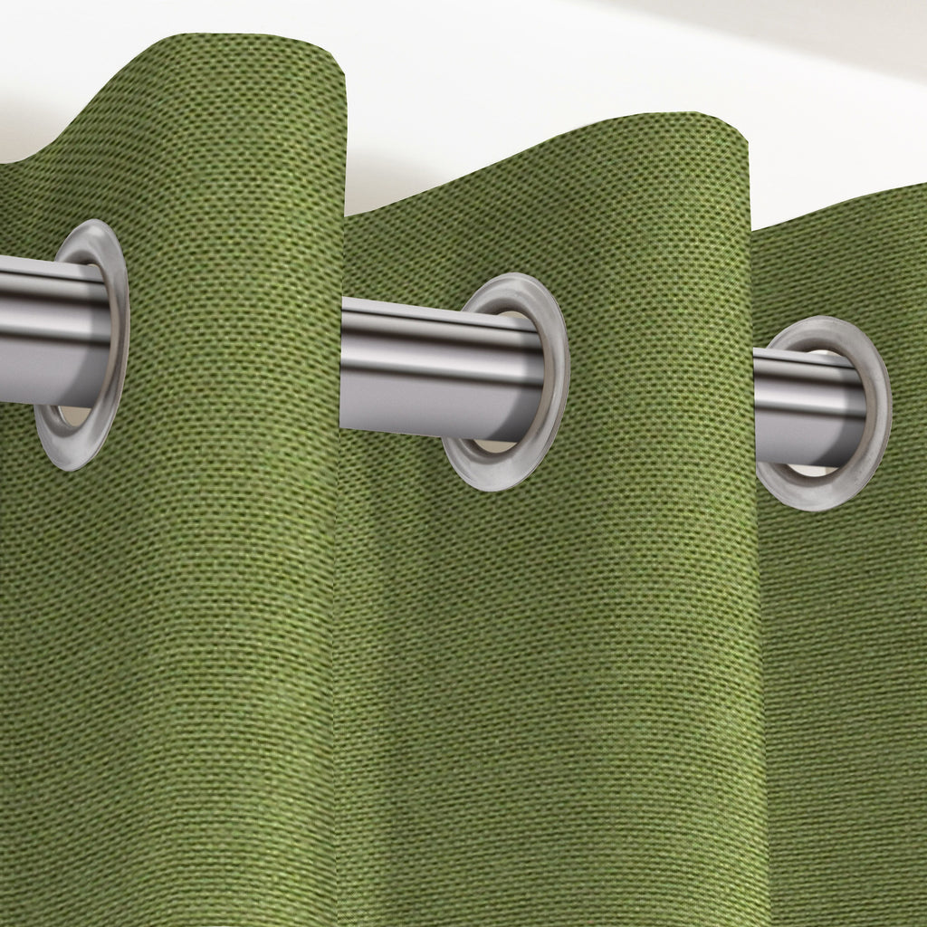 "McAlister Textiles Panama Plain Fern Green Curtains Tailored Curtains 116cm(w) x 137cm(d) (46"" x 54"")"
