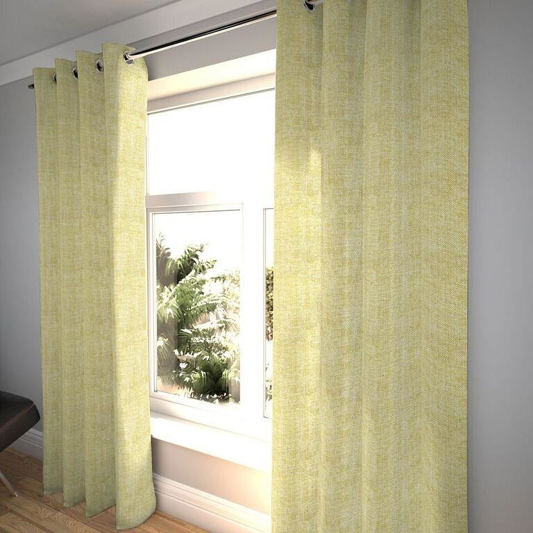 "McAlister Textiles Rhumba Ochre Yellow Curtains Tailored Curtains 116cm(w) x 182cm(d) (46"" x 72"")"