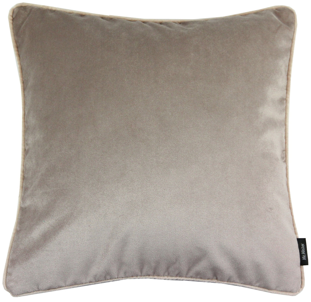 McAlister Textiles Matt Beige Mink Velvet 43cm x 43cm Cushion Sets Cushions and Covers