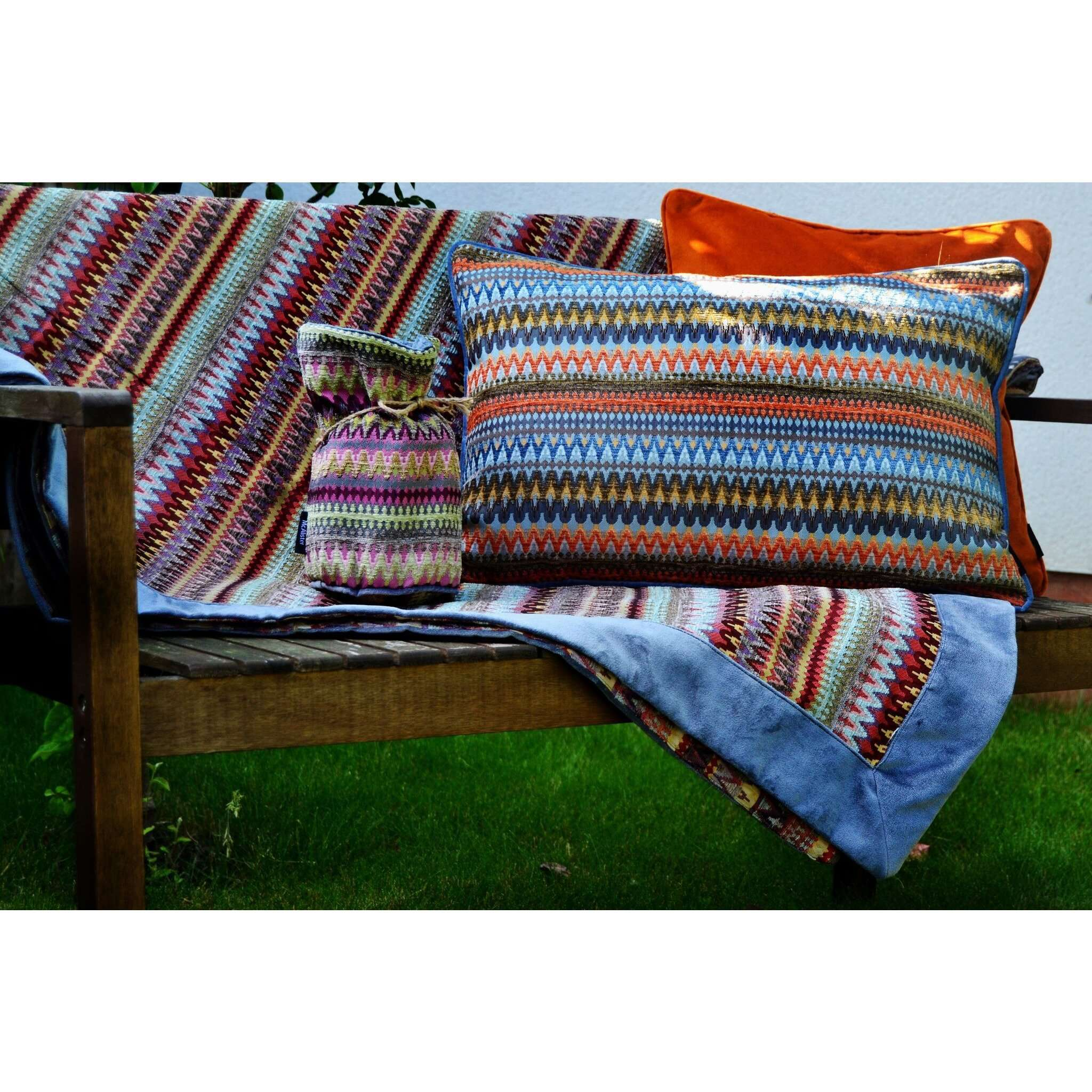 McAlister Textiles Curitiba Aztec Orange + Teal Pillow Pillow