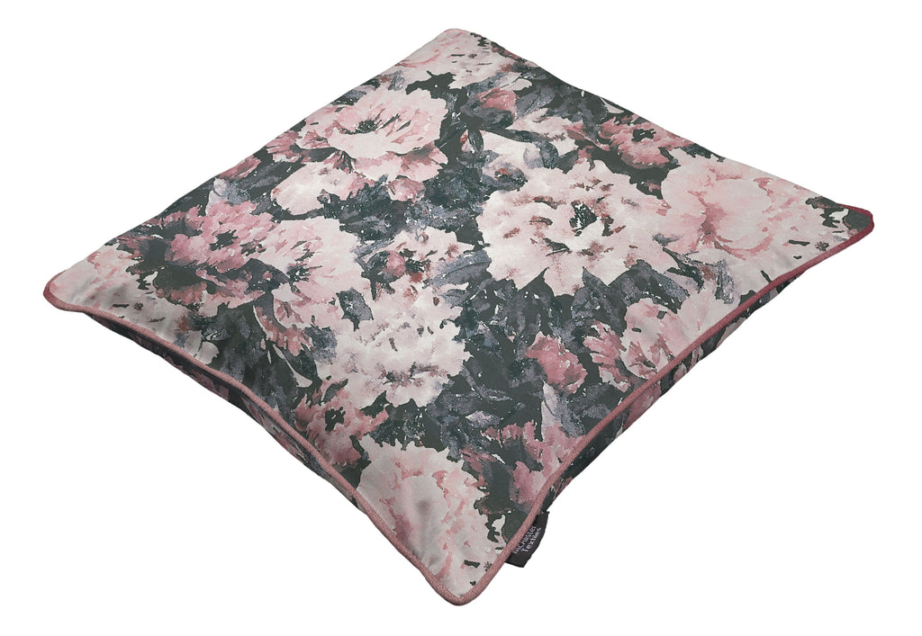 McAlister Textiles Camille Floral Purple Linen Bedding Set Bedding Set
