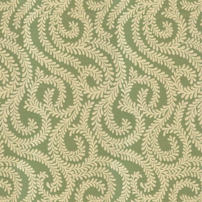 McAlister Textiles Little Leaf Sage Green Curtains Tailored Curtains