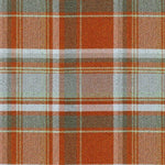 Charger l'image dans la galerie, McAlister Textiles Heritage Burnt Orange + Grey Tartan Curtains Tailored Curtains