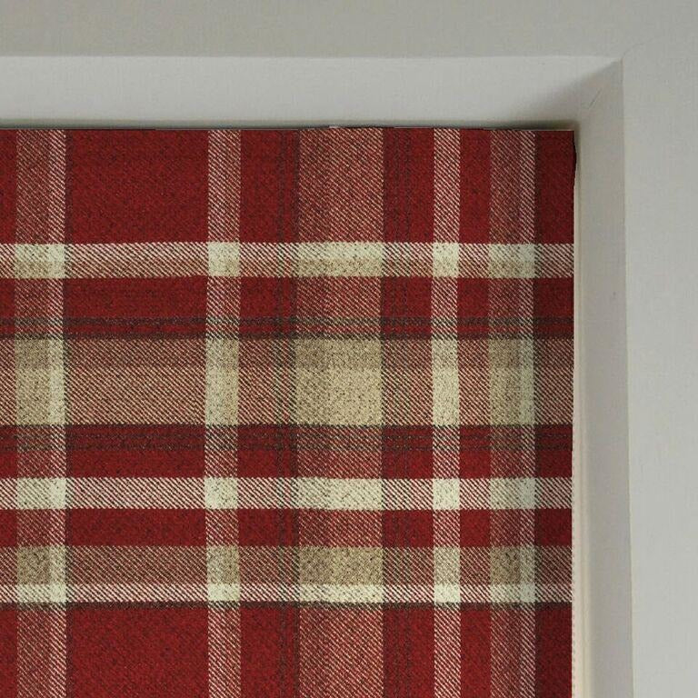 McAlister Textiles Heritage Red + White Tartan Roman Blind Roman Blinds