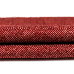 McAlister Textiles Herringbone Boutique Wool Feel Red & Charcoal Grey Throw-Throws and Runners-