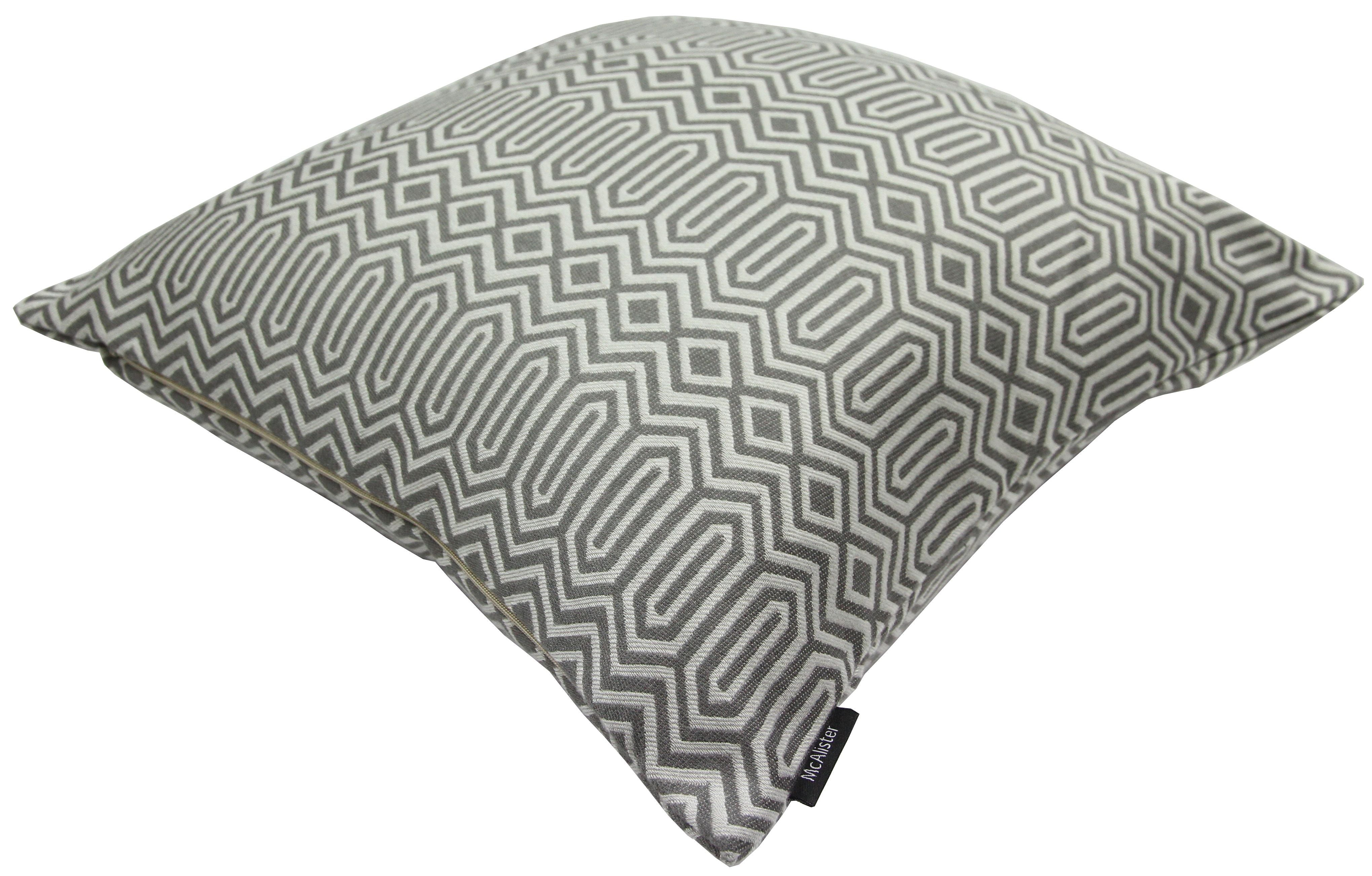 McAlister Textiles Colorado Geometric Charcoal Grey Pillow Pillow