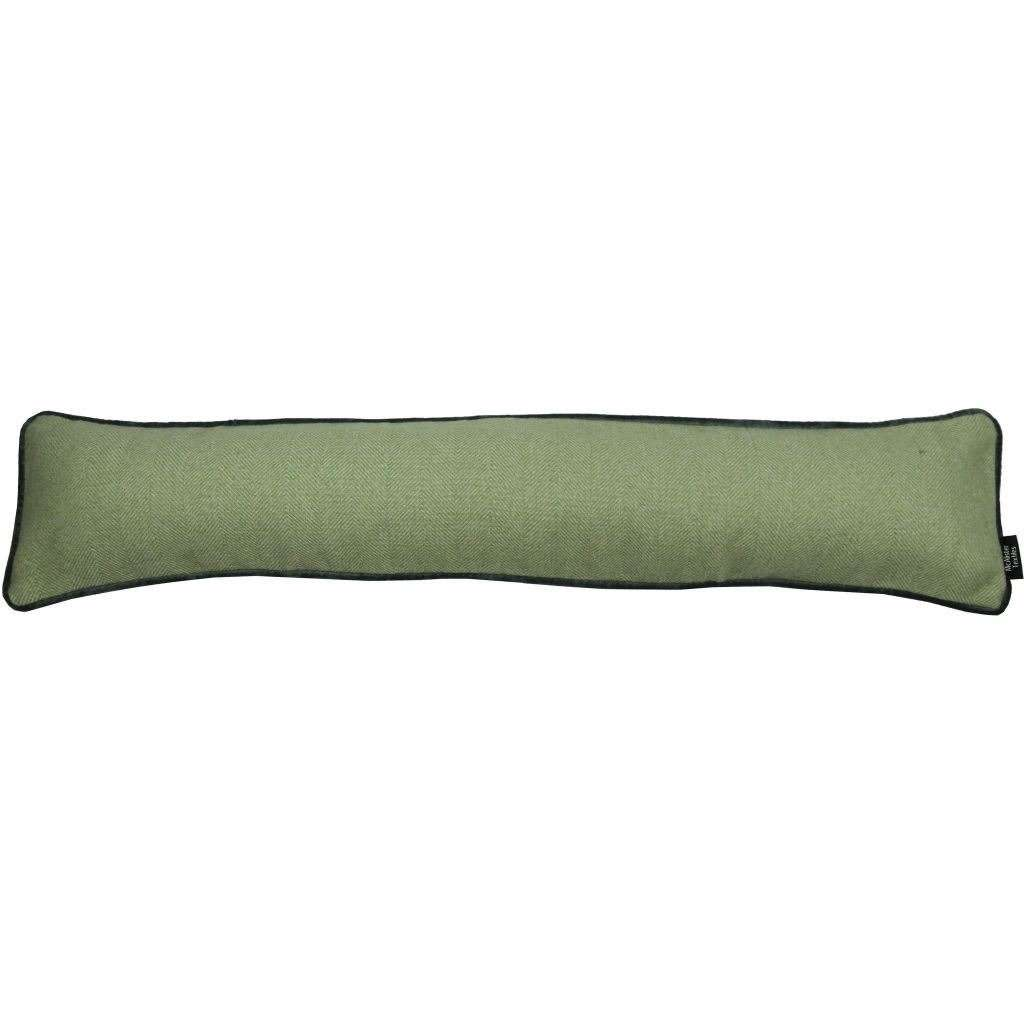 McAlister Textiles Herringbone Boutique Green + Grey Draught Excluder Draught Excluders