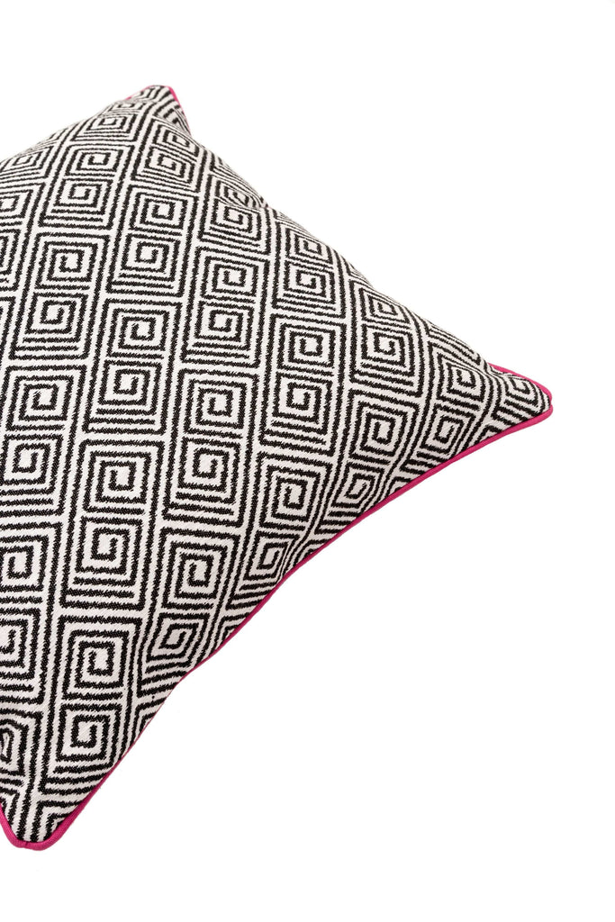 McAlister Textiles Acapulco Black + White Abstract Pillow Pillow