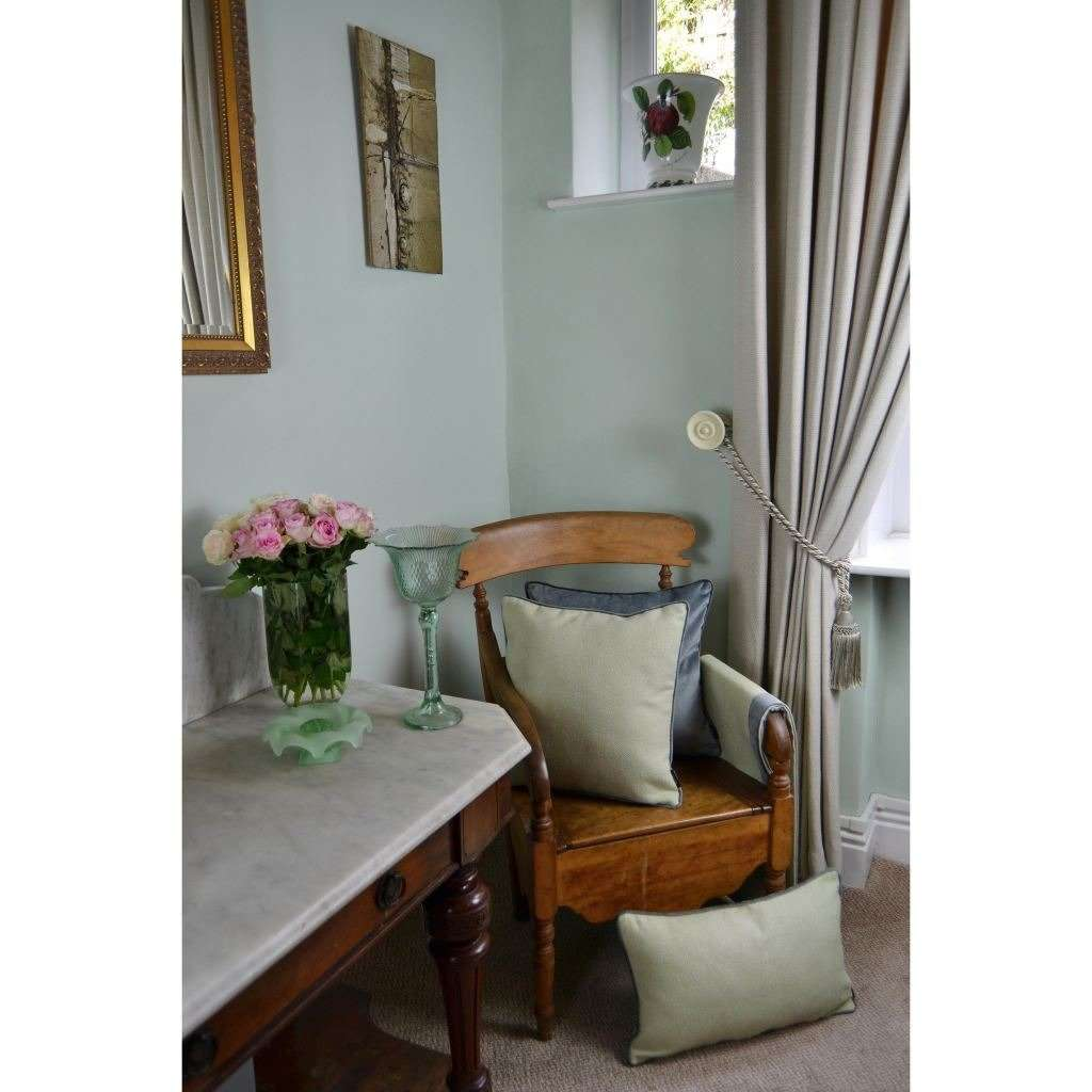 McAlister Textiles Herringbone Boutique Green + Grey Cushion Cushions and Covers