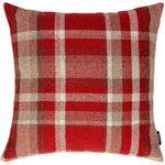 Load image into Gallery viewer, McAlister Textiles Heritage Red + White Tartan Cushion Cushions and Covers Cover Only 43cm x 43cm