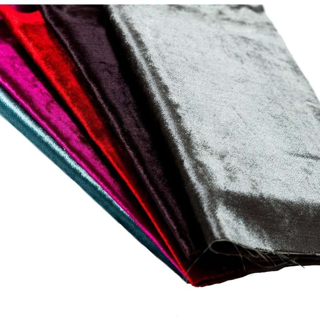 McAlister Textiles Wine Red Crushed Velvet Table Runner Throws and Runners