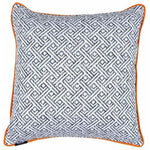 Load image into Gallery viewer, McAlister Textiles Monterrey Black + White Pillow Pillow Cover Only 43cm x 43cm