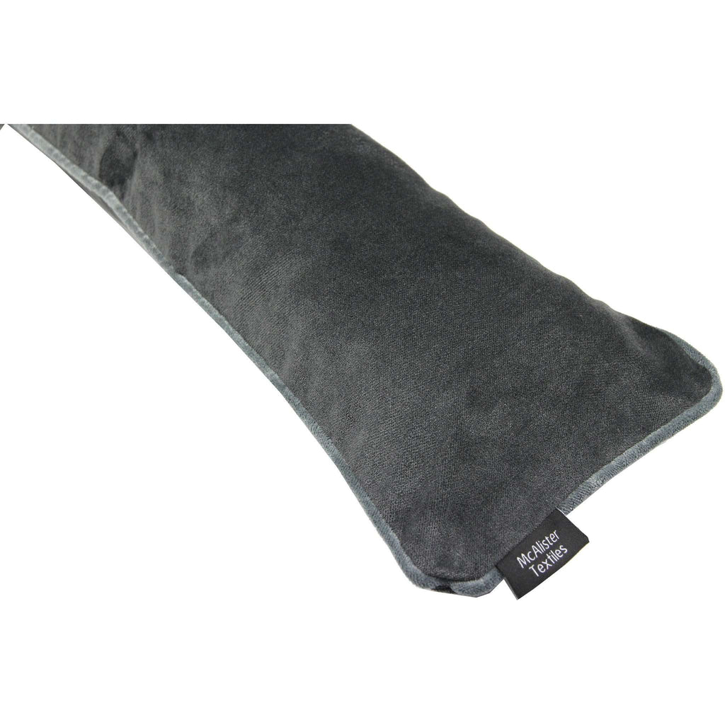 McAlister Textiles Matt Charcoal Grey Velvet Draught Excluder Draught Excluders
