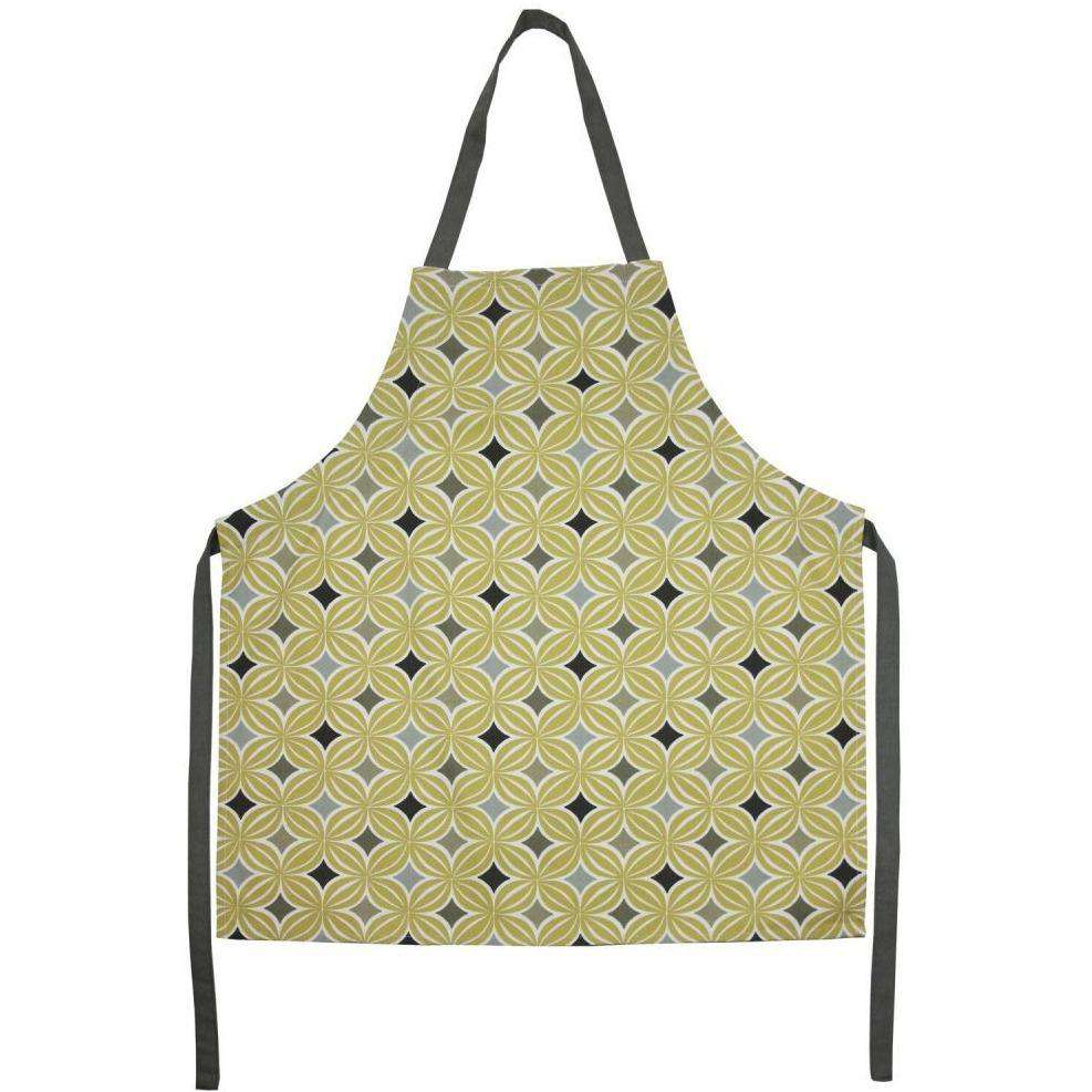 Mcalister Textiles Laila Geometric Ochre Yellow Apron Kitchen Accessories