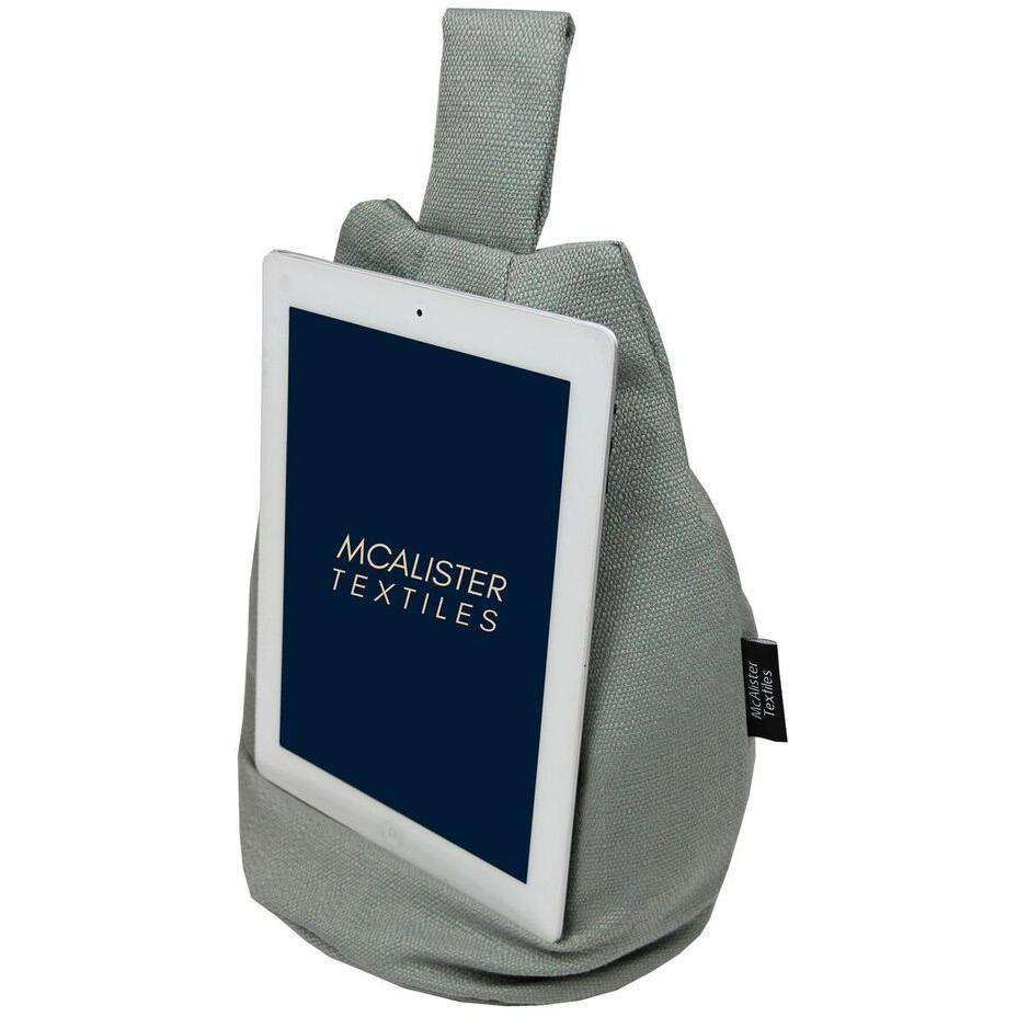 McAlister Textiles Savannah Duck Egg Blue Tablet Stand Mini Bean Bag