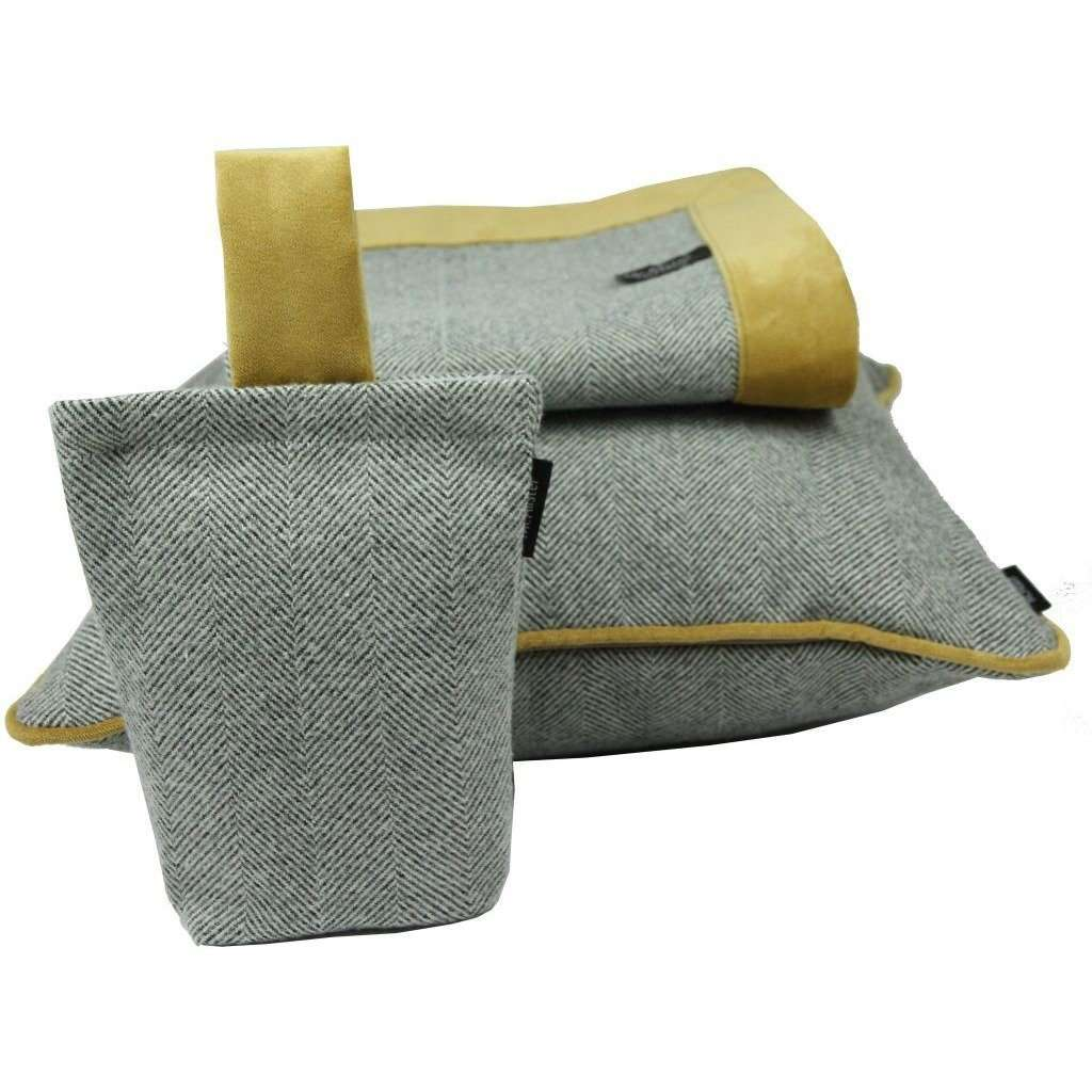 McAlister Textiles Herringbone Boutique Grey + Yellow Throw Blanket Throws and Runners