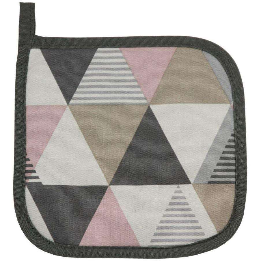 McAlister Textiles Vita Pink Cotton Print Oven Trivet Kitchen Accessories